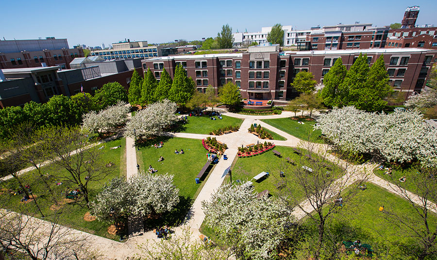 The Quad on the Lincoln Park Campus