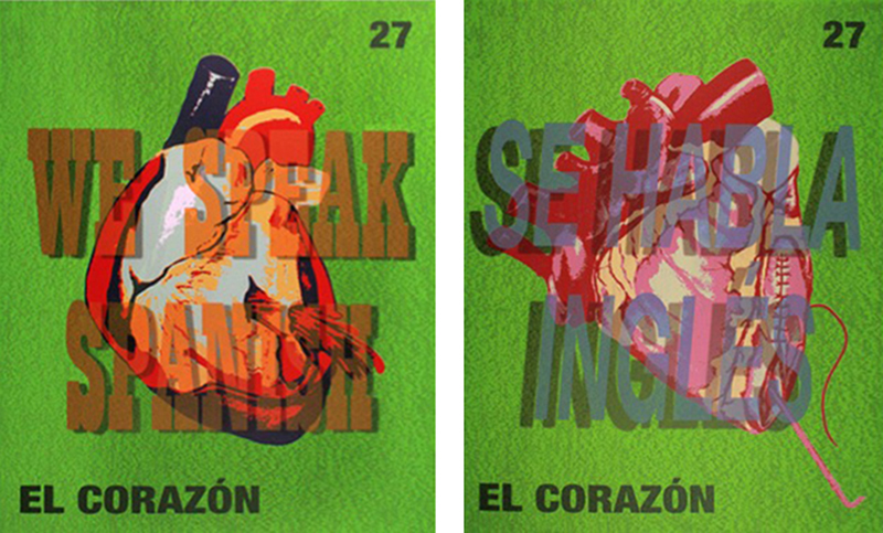 """El Corazón That Speaks Spanish"" and ""The Heart Que Habla Inglés"""