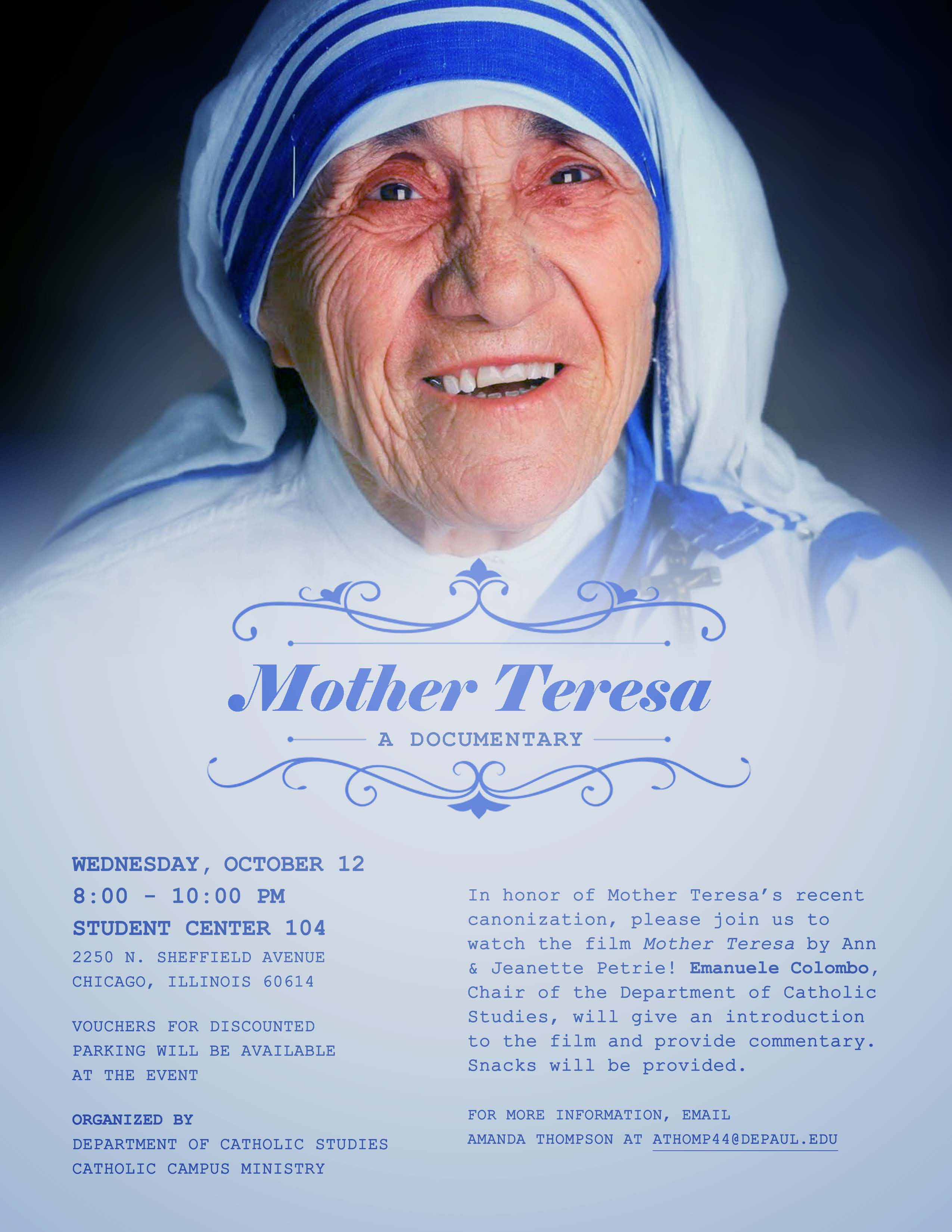 Mother Teresa: A Documentary | Flyer