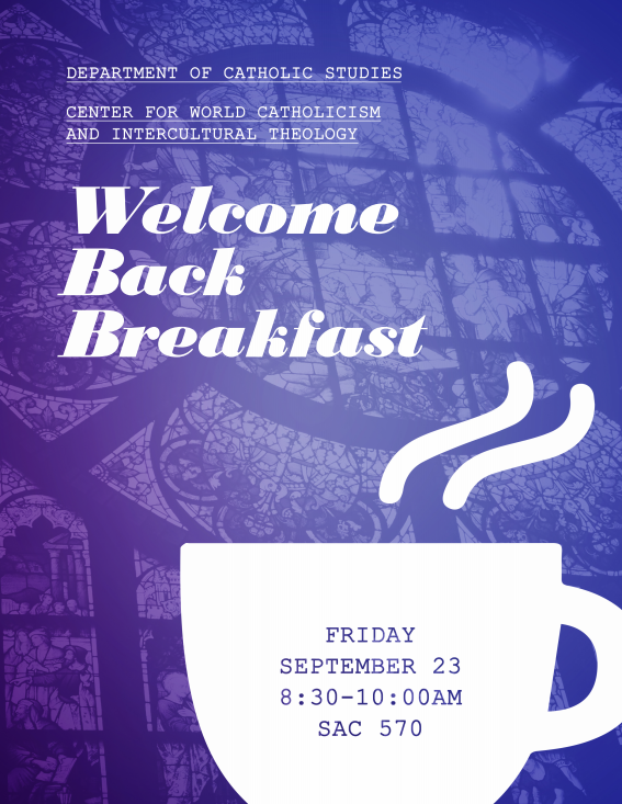 Welcome Back Breakfast | Flyer