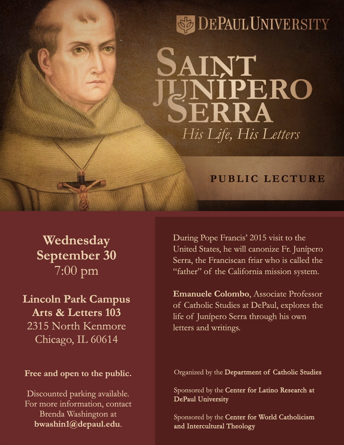 Saint Junipero Serra | Flyer