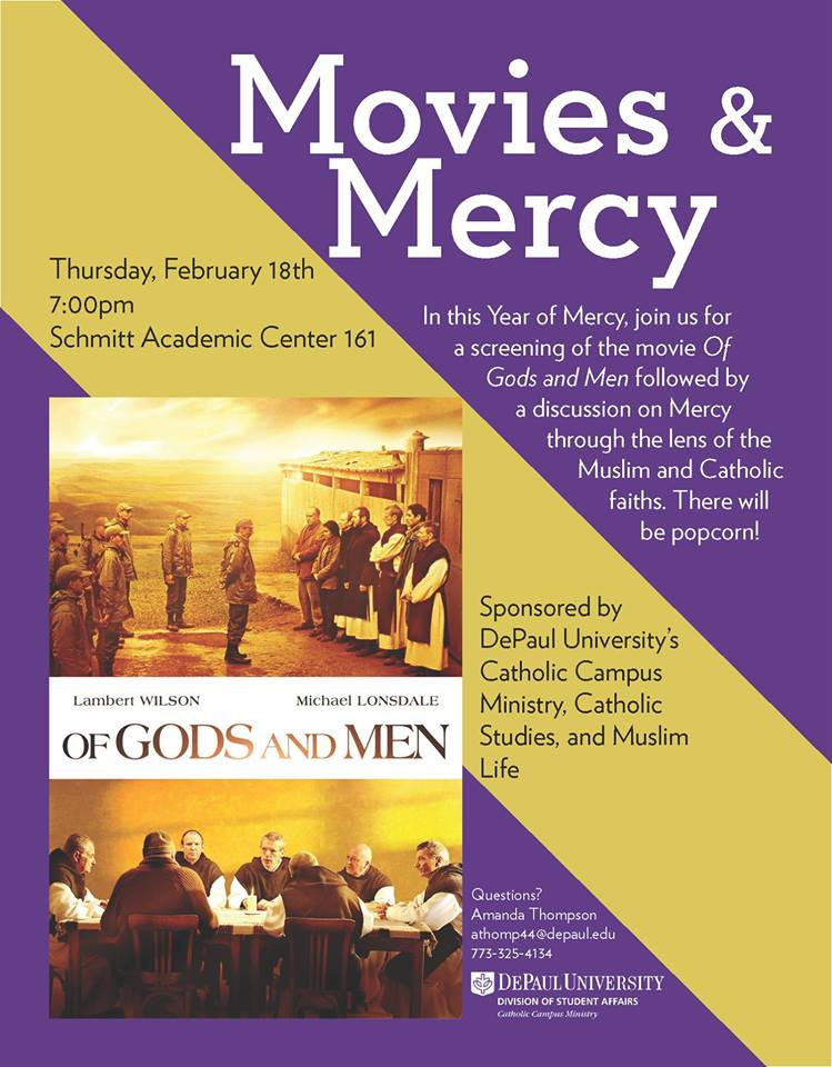 Movies & Mercy: Of Gods And Men | Flyer