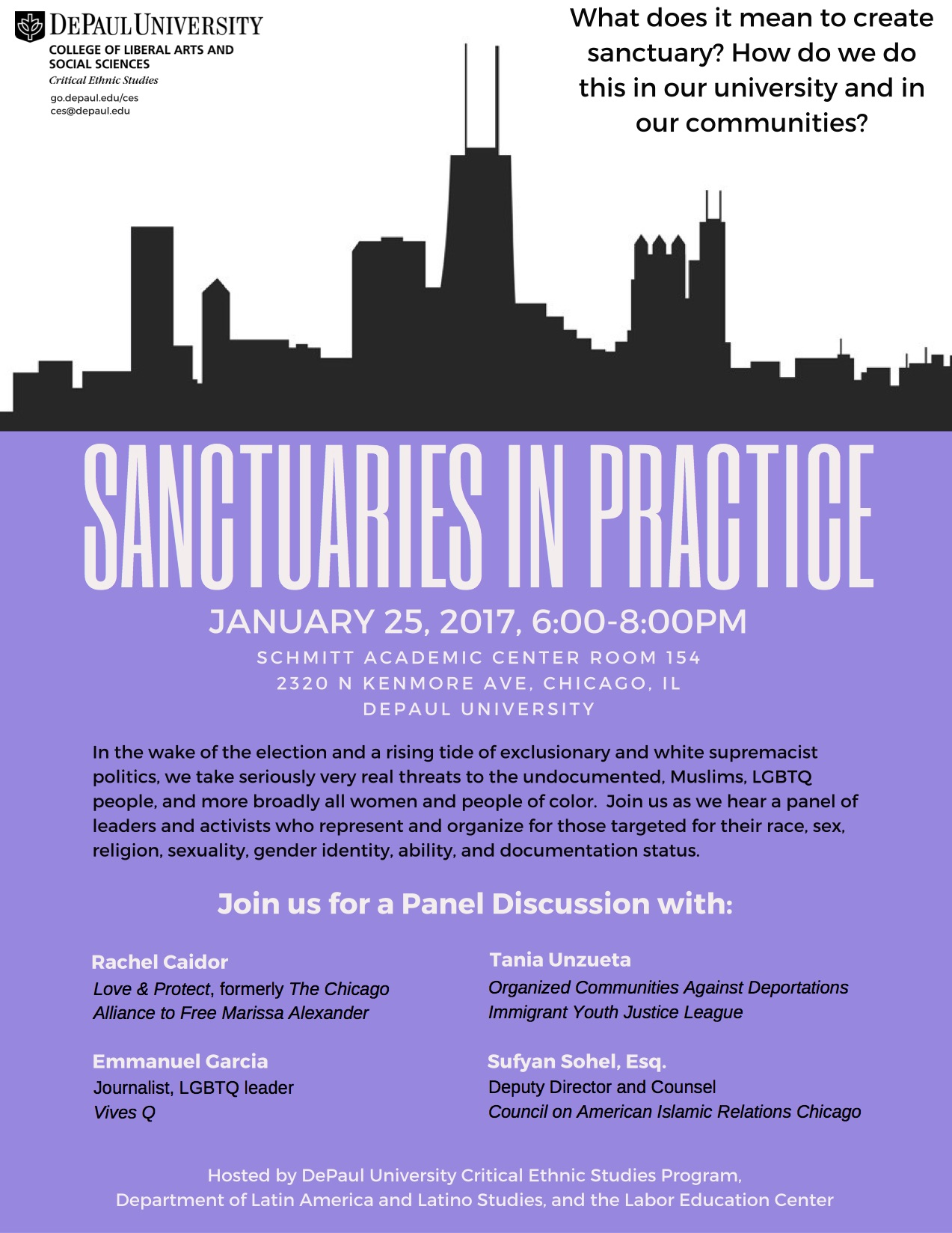 Sanctuaries in Practice Event Flyer