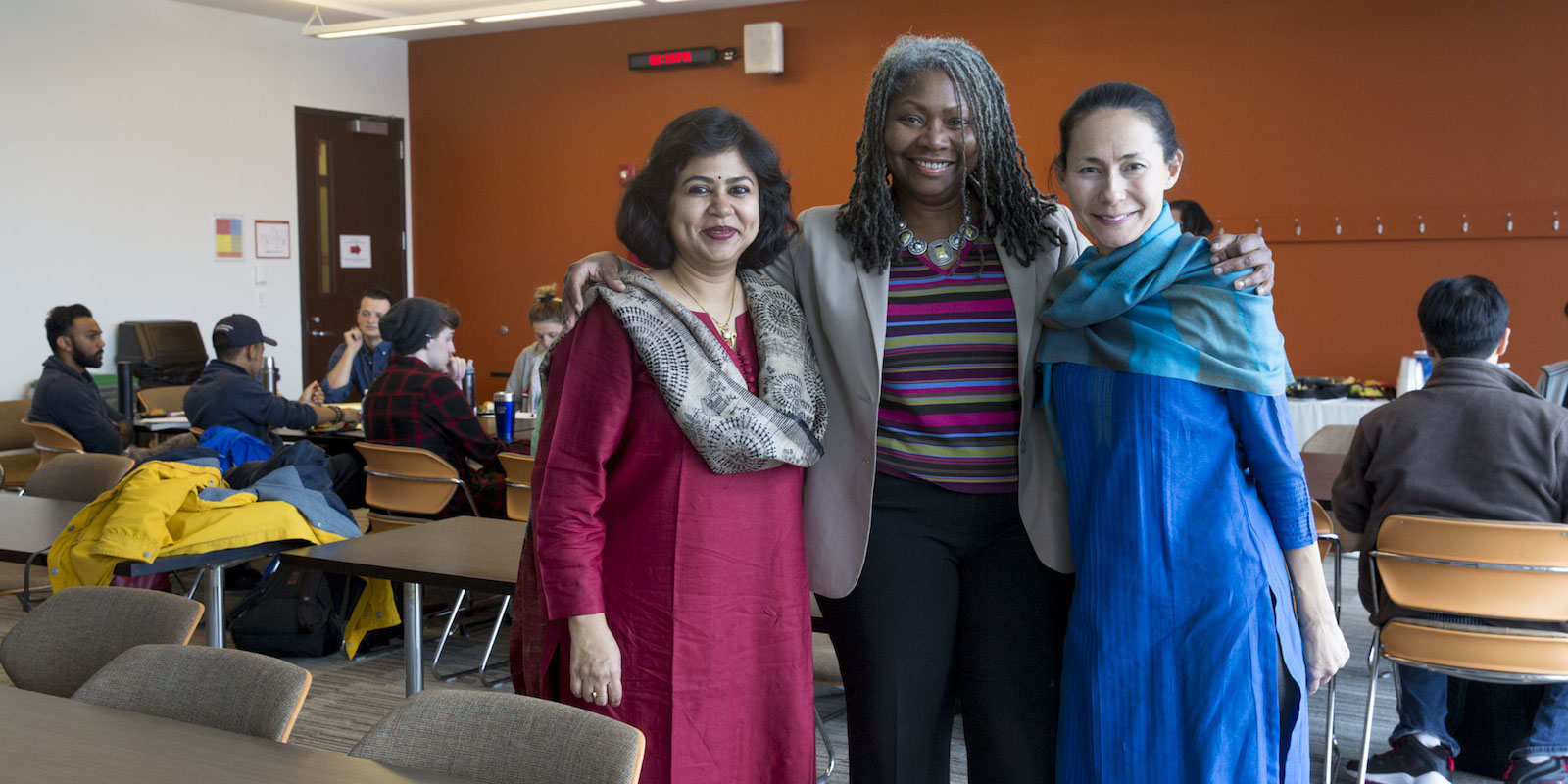 Professor Sulakshana Sen of Symbiosis University, India on a special guest lecture visit to DePaul, hosted by Global Asian Studies faculty and students.