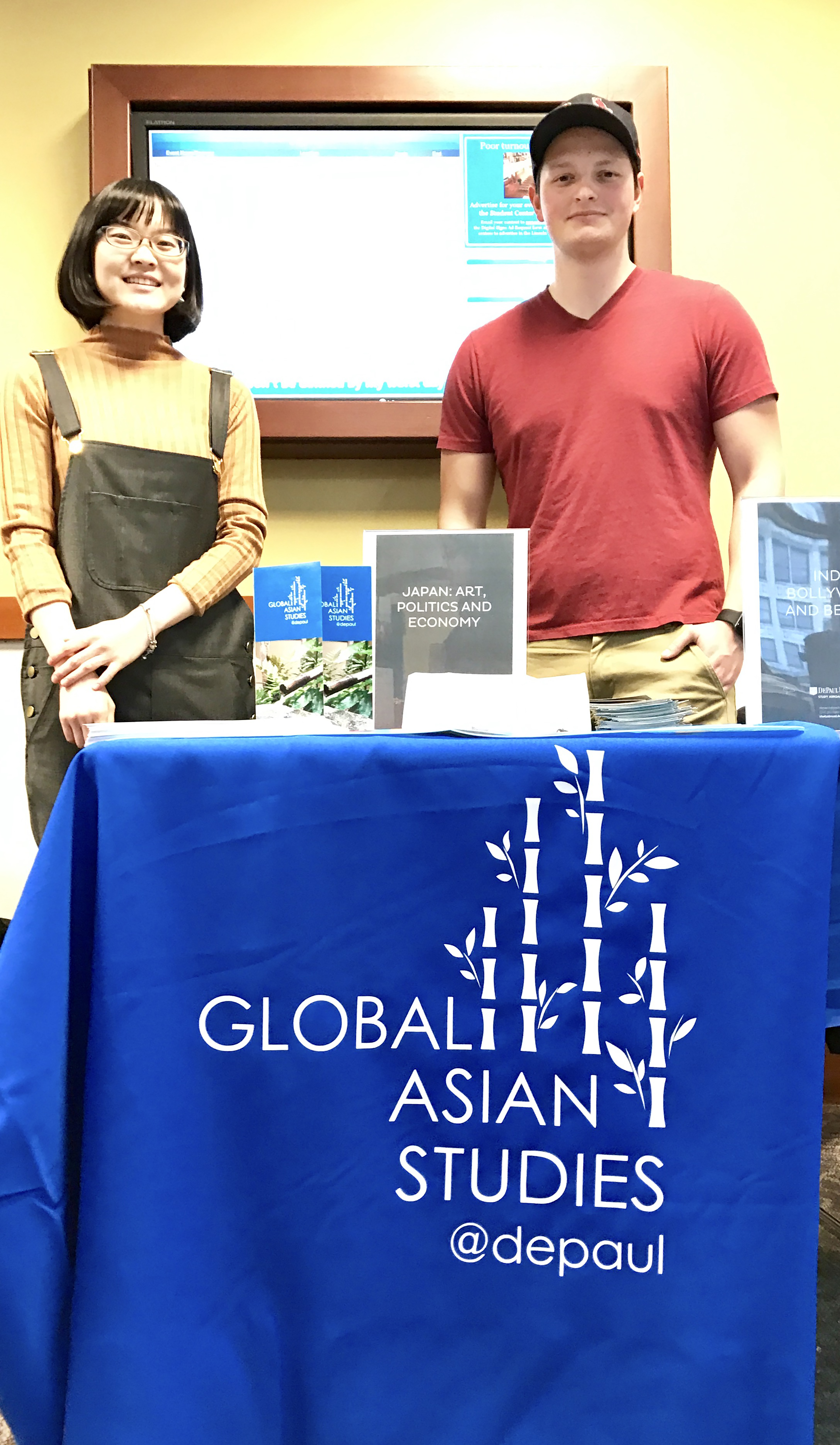 ​Global Asian Studies students promoting Okinawa, Japan Study Abroad
