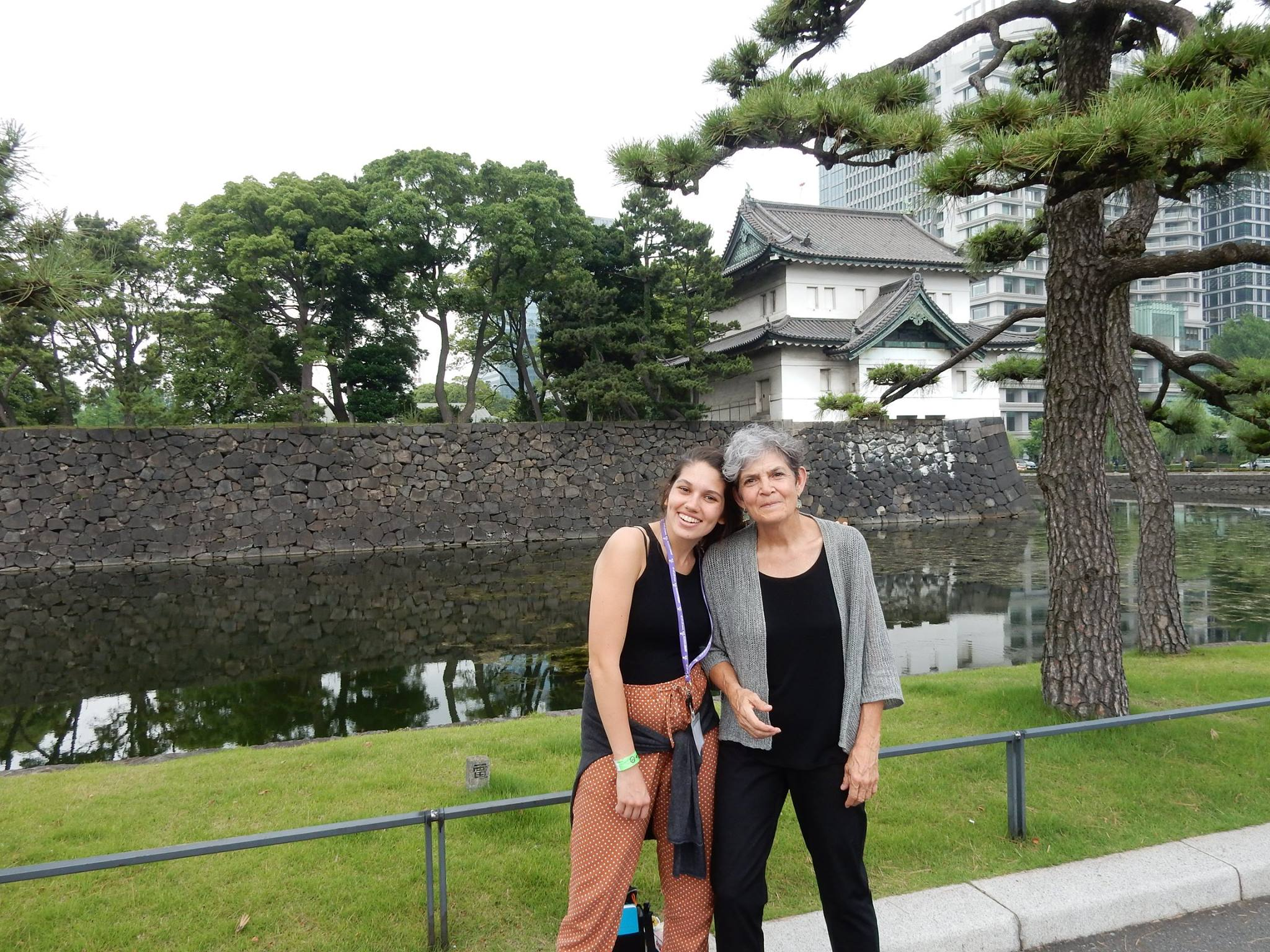 Professor Curt Hansman and Student Emily Spurgeon in Japan for Study Abroad!