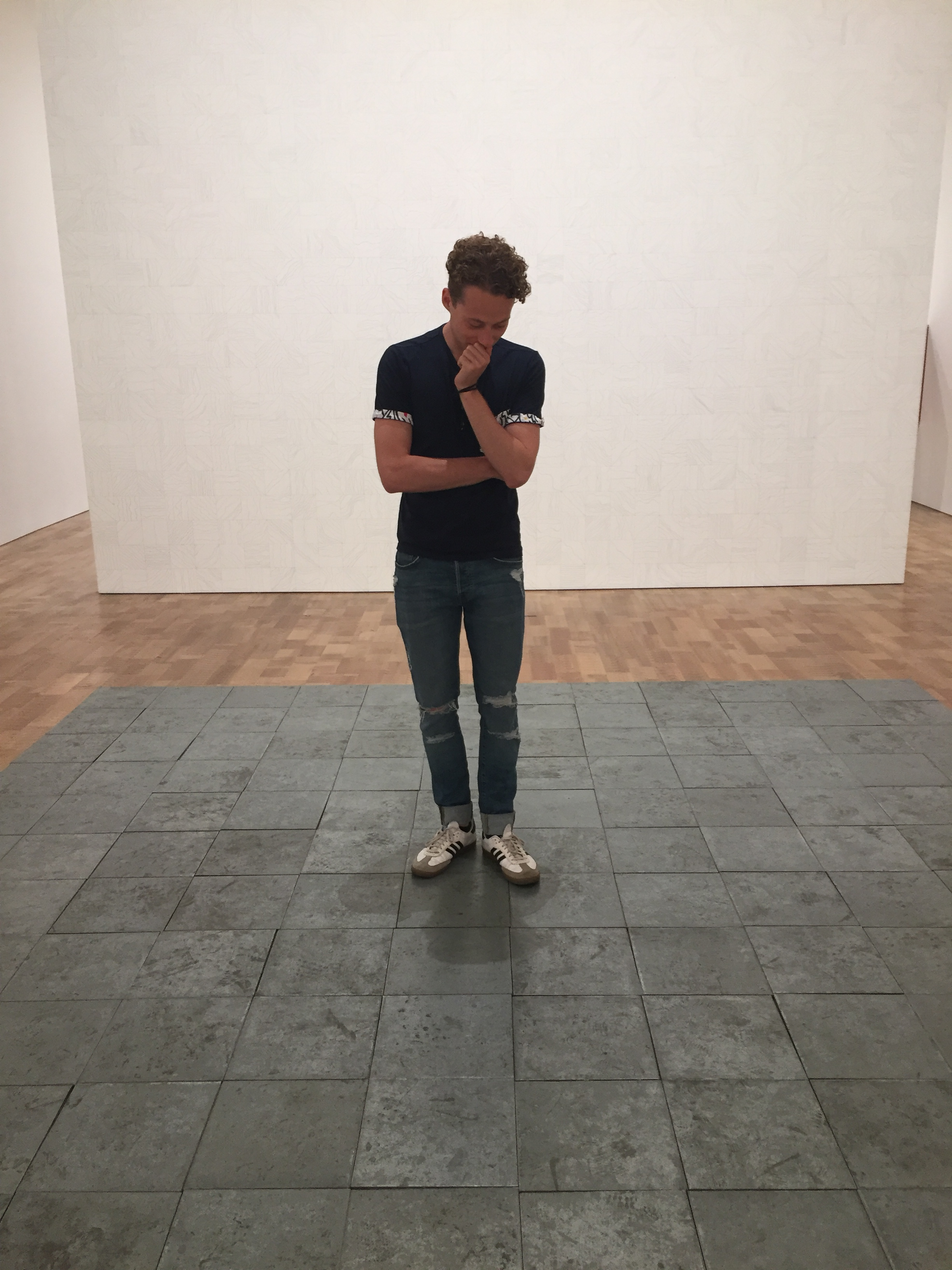 Student Michael Basiewicz visiting the Art Institute of Chicago