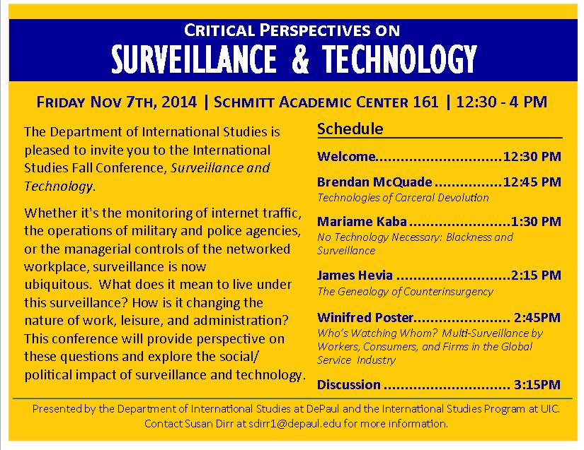 Fall 2014 Conference: Surveillance and Technology