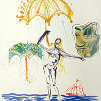 Anti-Umbrella with Atomized Liquids (detail) by Salvador Dalí