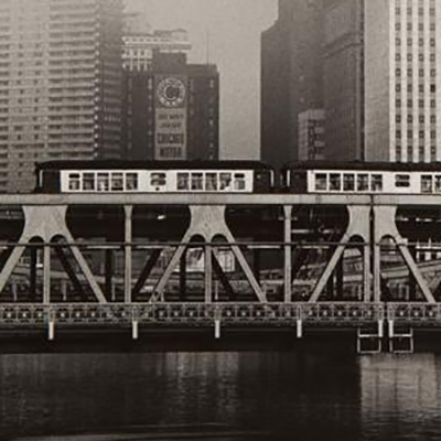 Untitled, Chicago (El Over River) (detail) by Yasuhiro Ishimoto