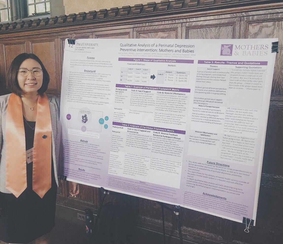 Hee Jin Park with Capstone Poster