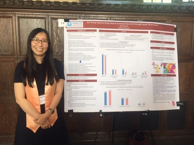 Wei Ning Chi with capstone poster
