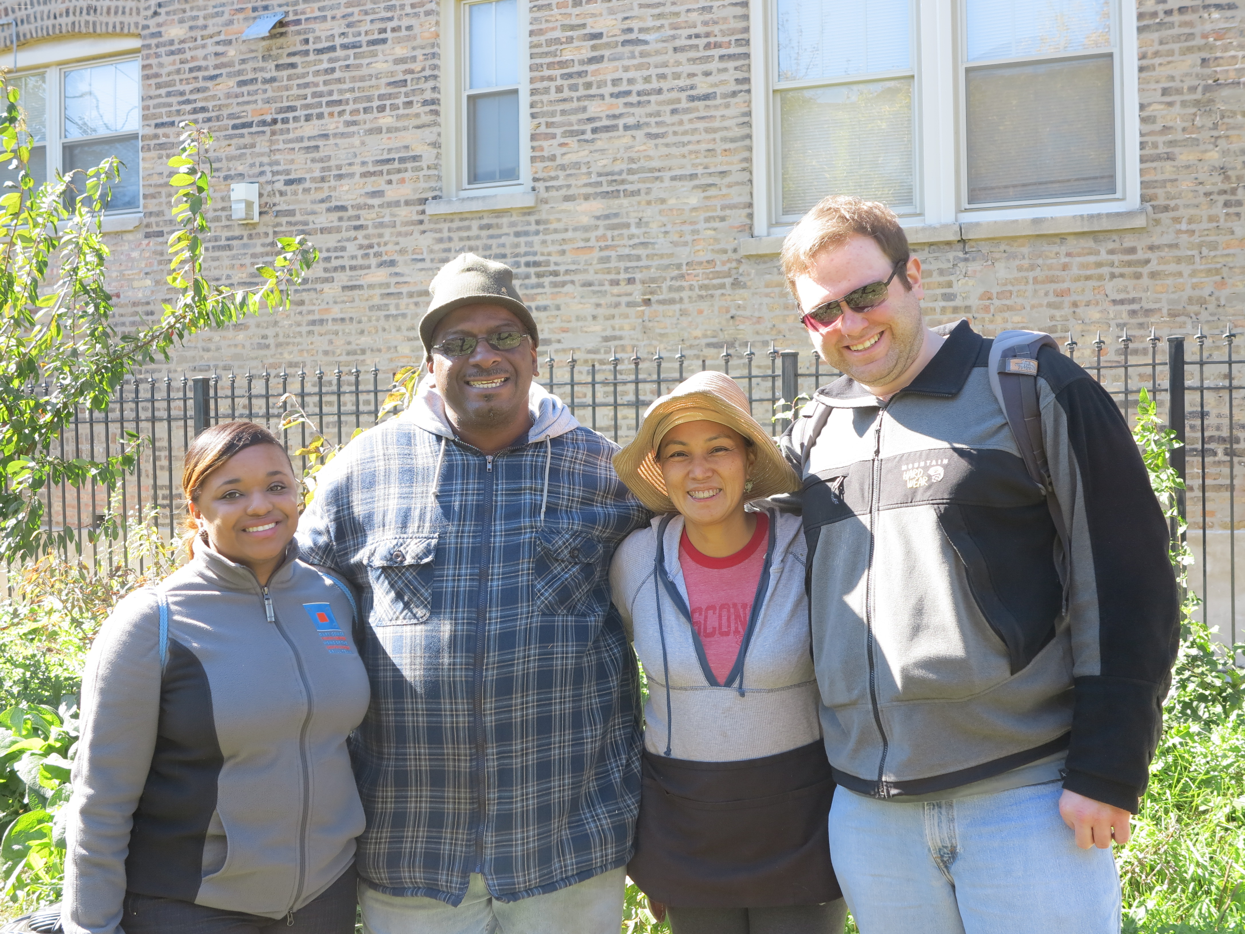 PPS Students  visiting community garden in North Lawndale