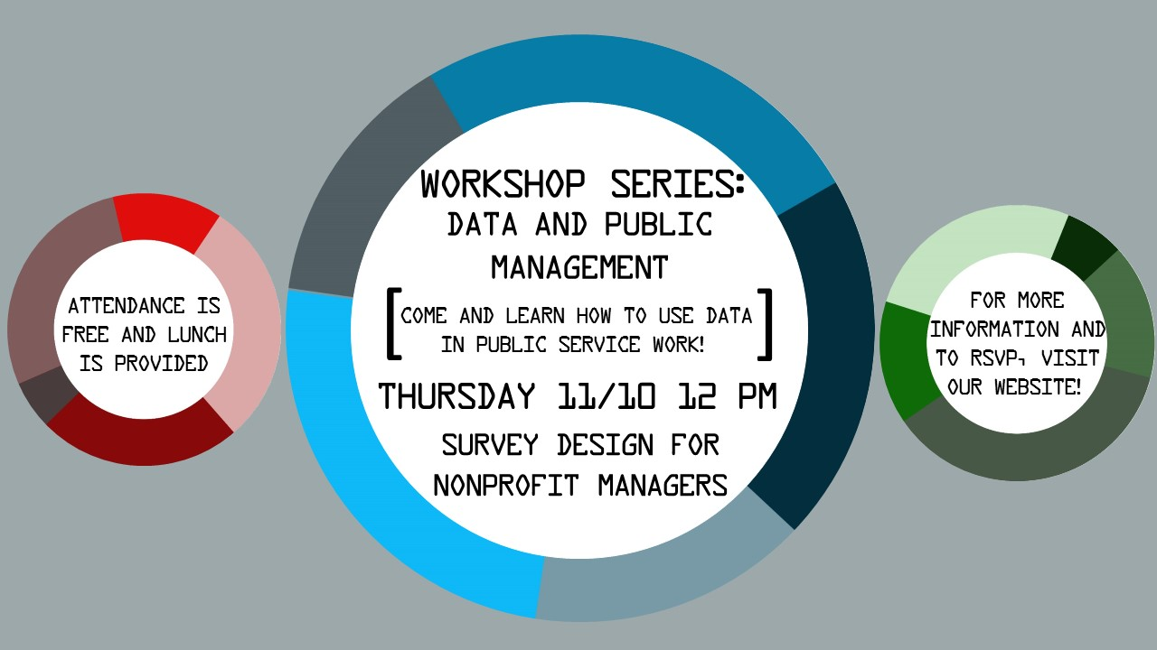 ​Workshop Series: Data and Public Management. Click here to RSVP!​