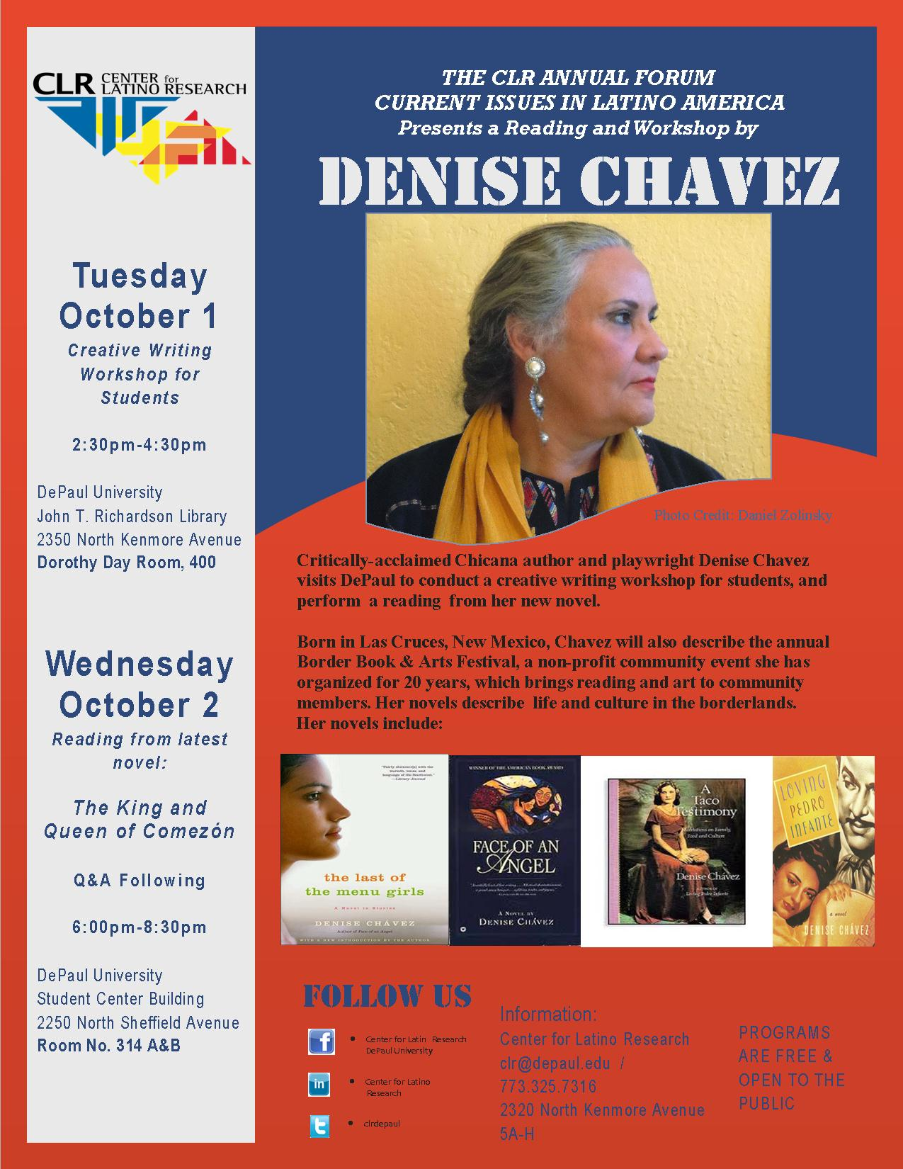 Current Issues in Latino America Forum  |  Author Denise Chavez