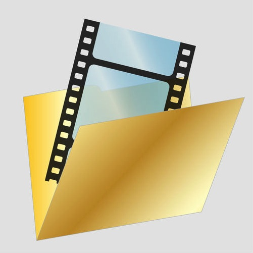 Film strip in a manila file folder