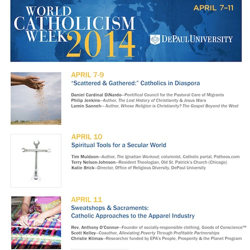 Flyer for World Catholicism Week 2014