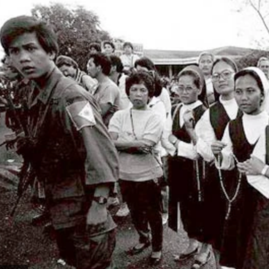Activist nuns in 1986 People Power Revolution in Philippines