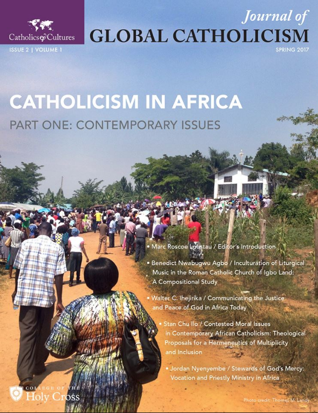 Cover, Journal of Global Catholicism, Vol. 1, Issue 2 (July 2017)