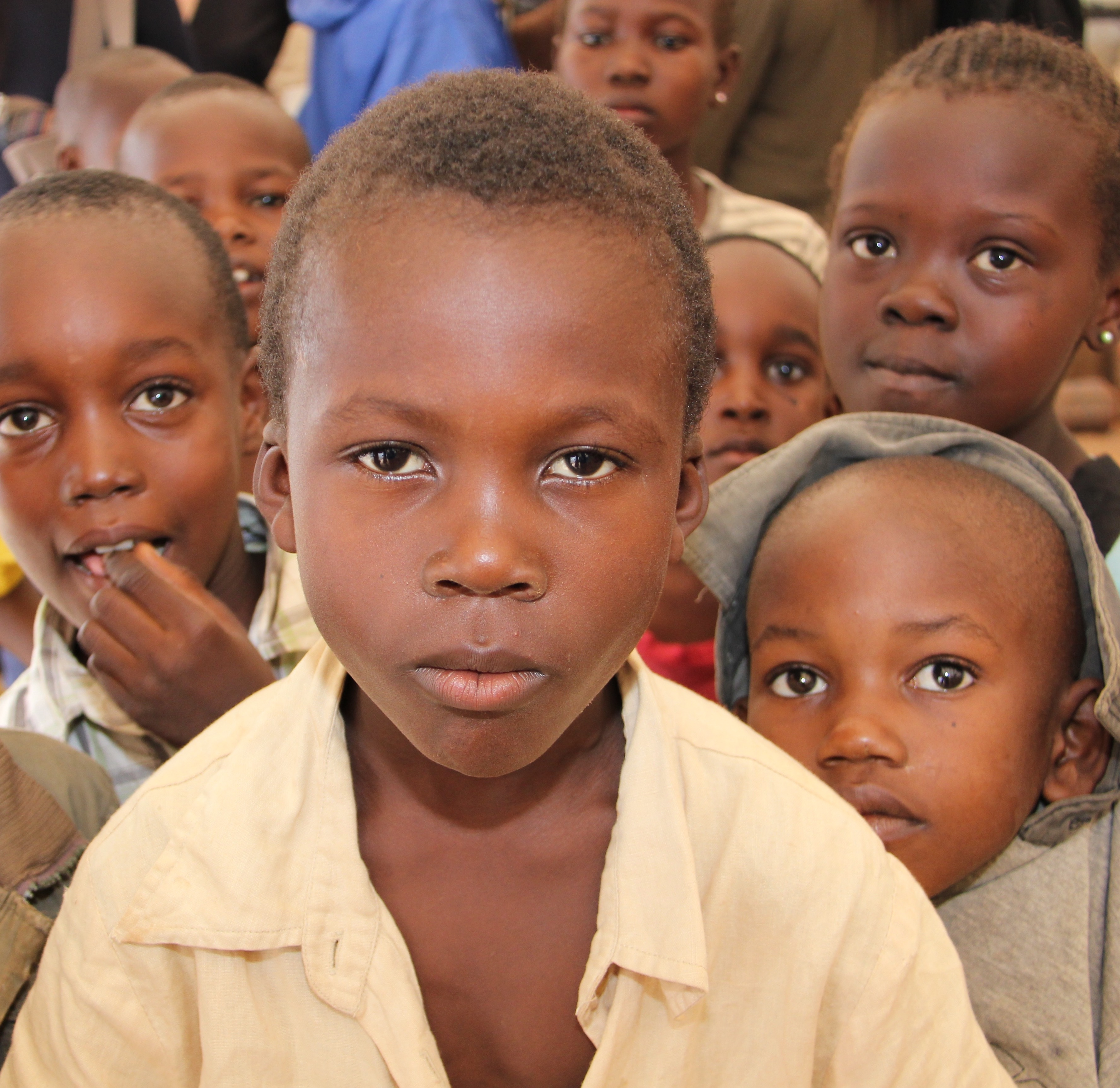 Children in an IDP camp in Central African Republic