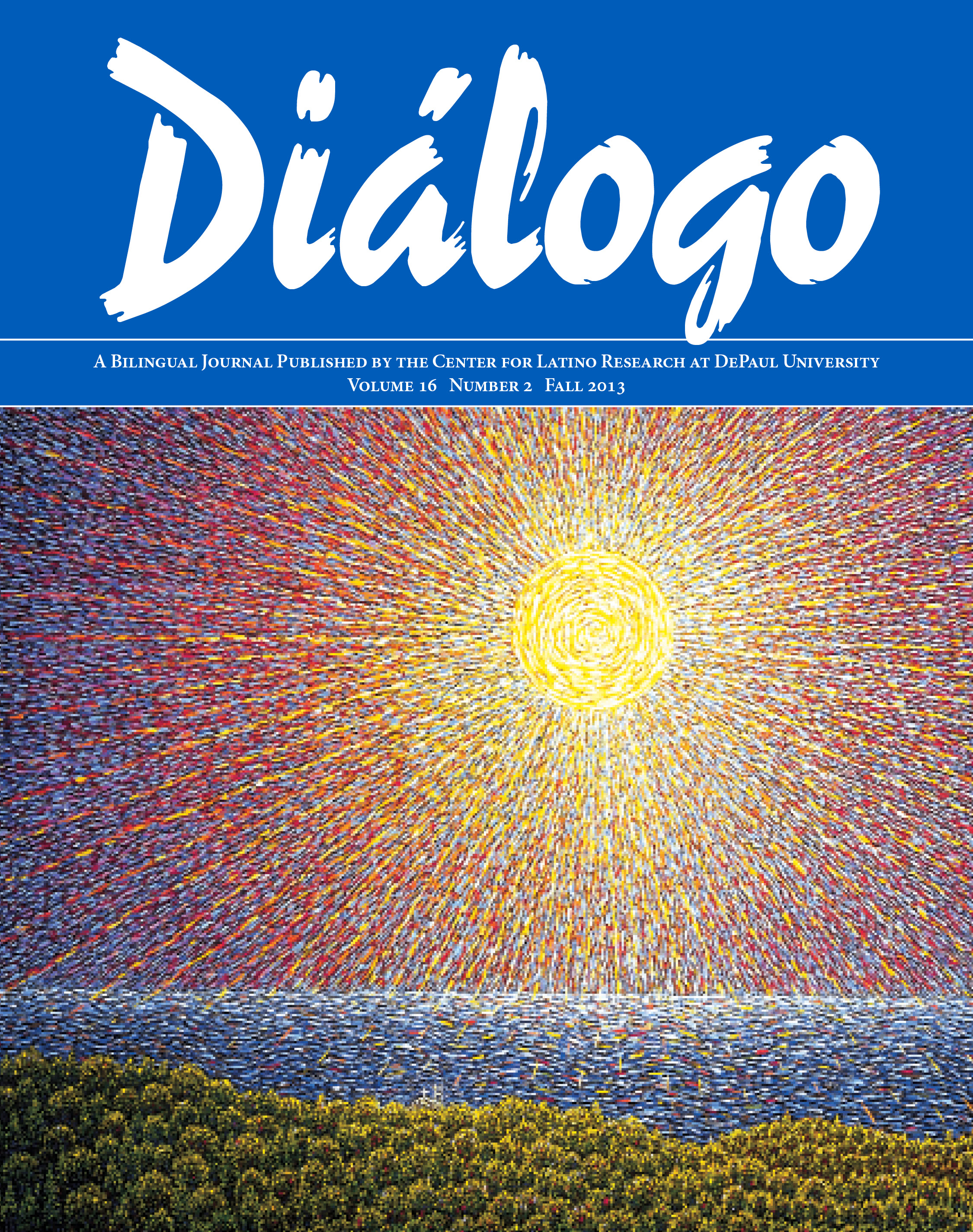 Cover of Diálogo's fall 2013 issue
