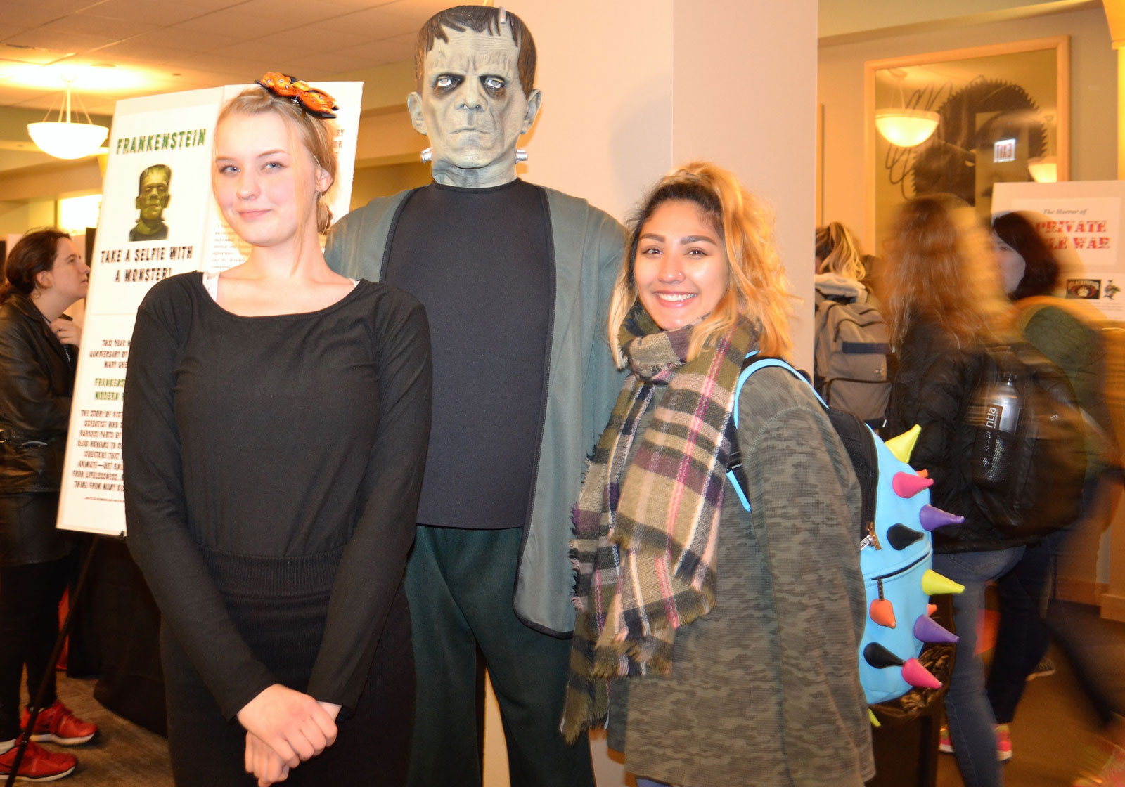 DePaul Students with Frankenstein