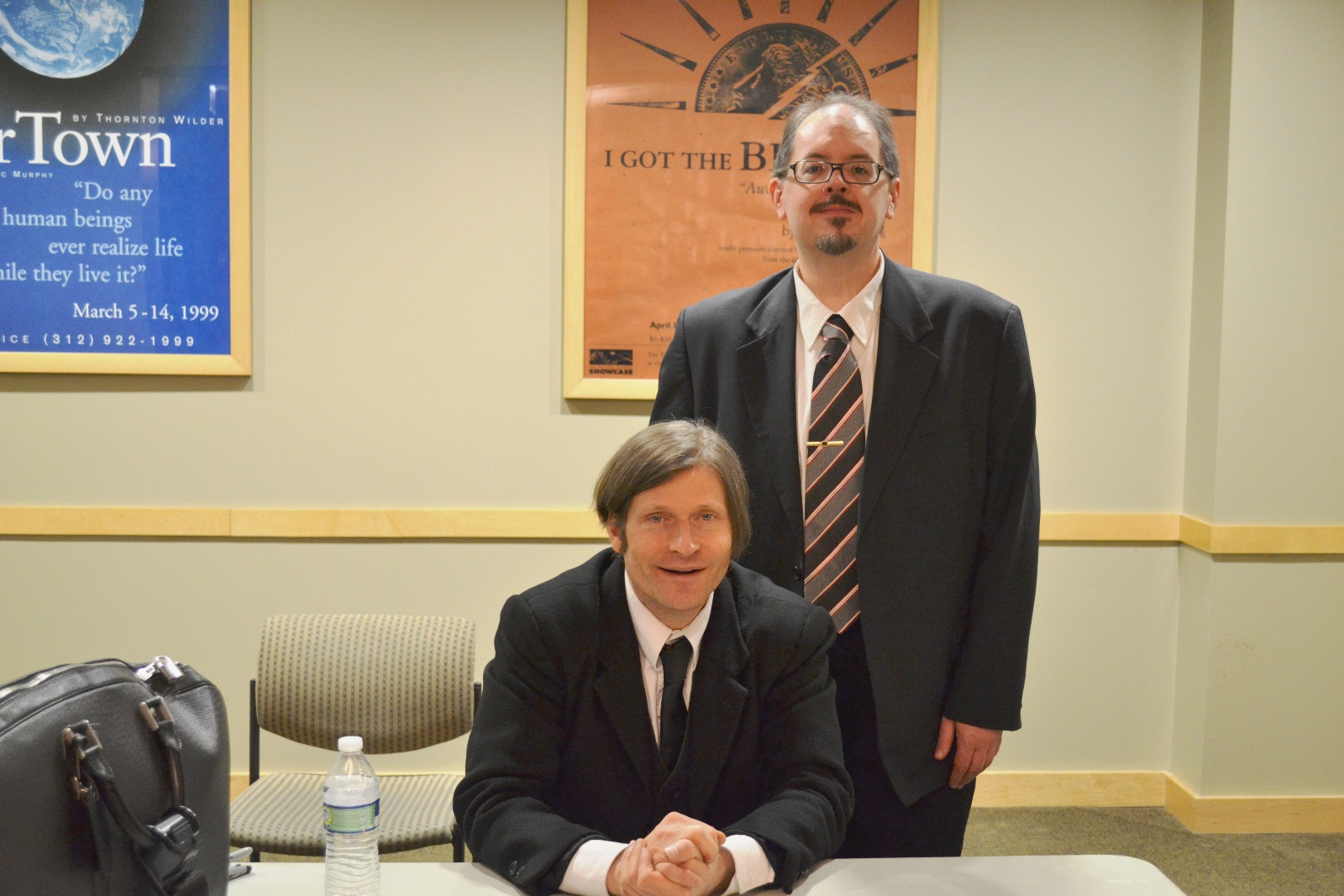Crispin Glover and H. Peter Steeves