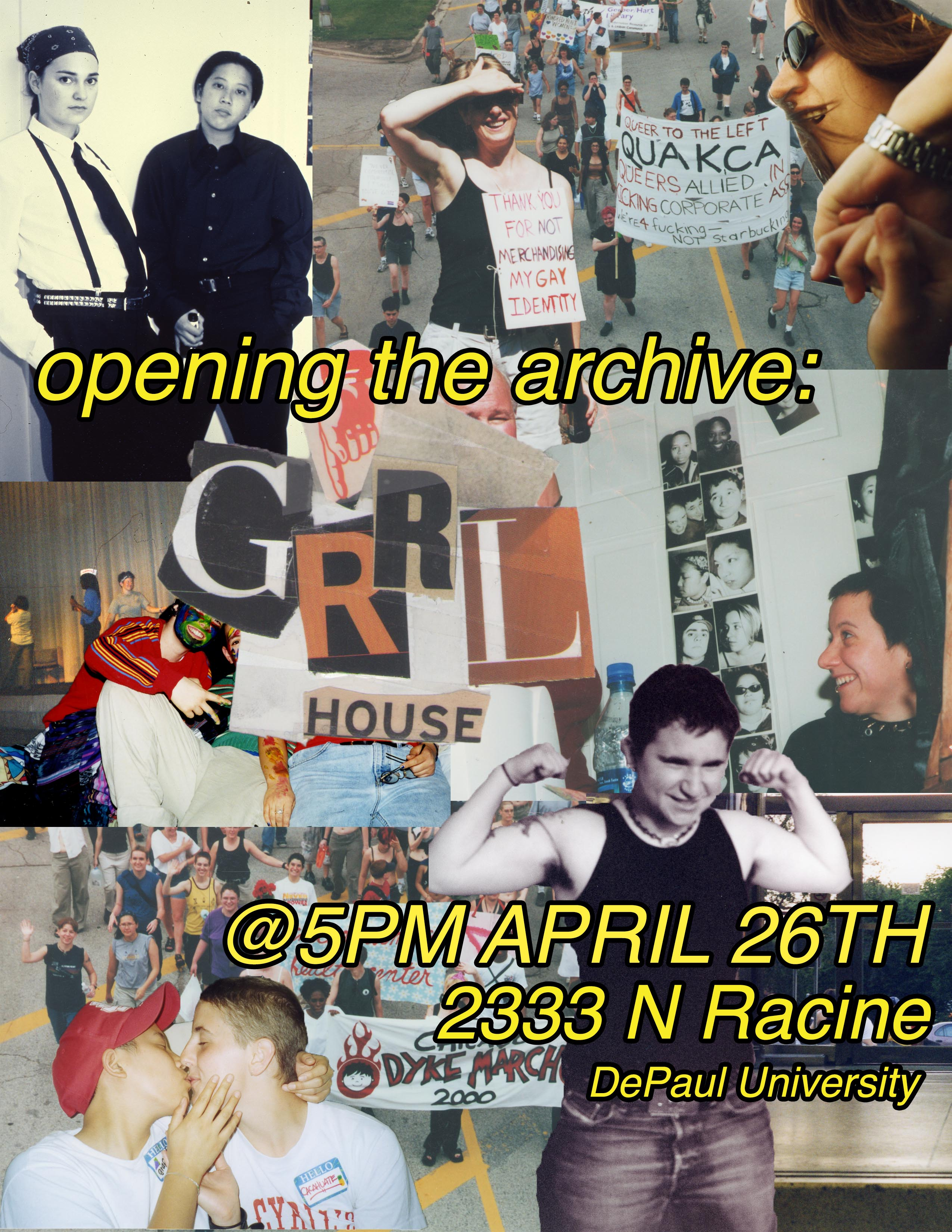GRRRL House Archive Opening
